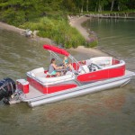 lac la belle pontoon boat