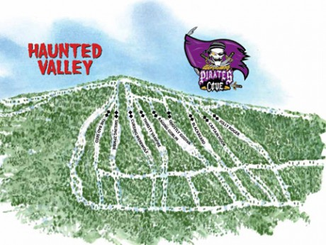 haunted valley trail map