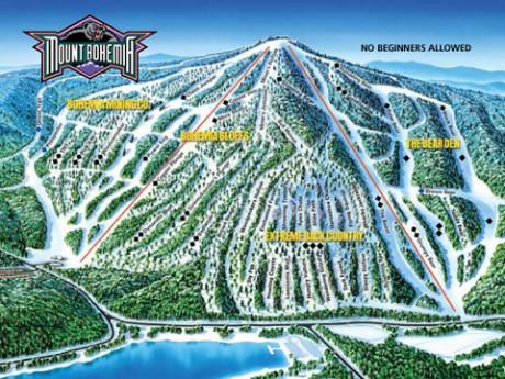 mount bohemia trail map