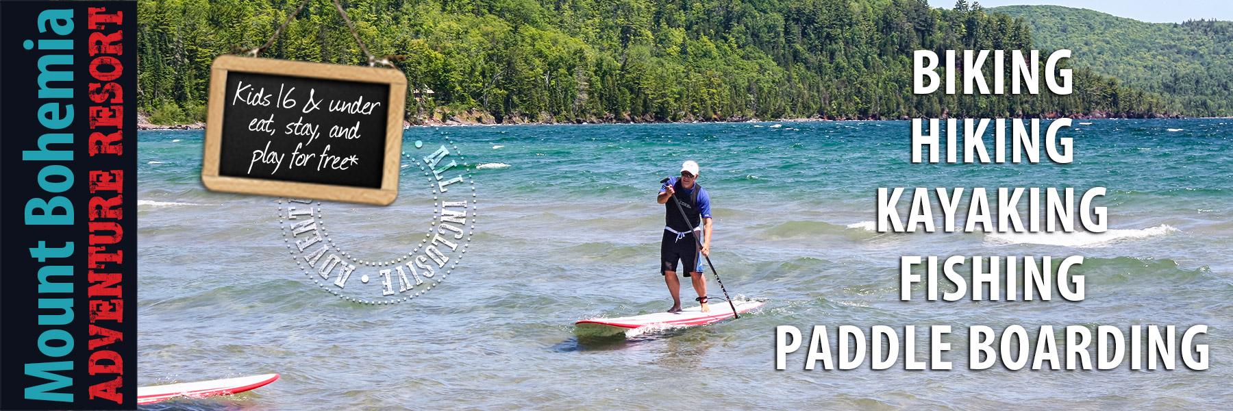 paddle boarding lake superior