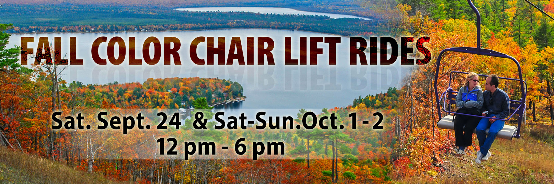 fall color chair lift rides