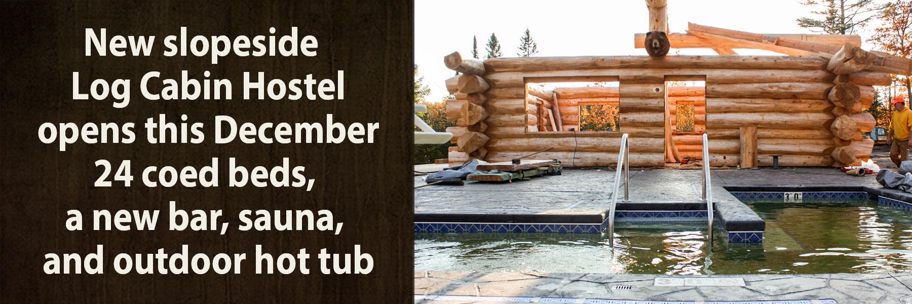 mount bohemia hot tub cabin
