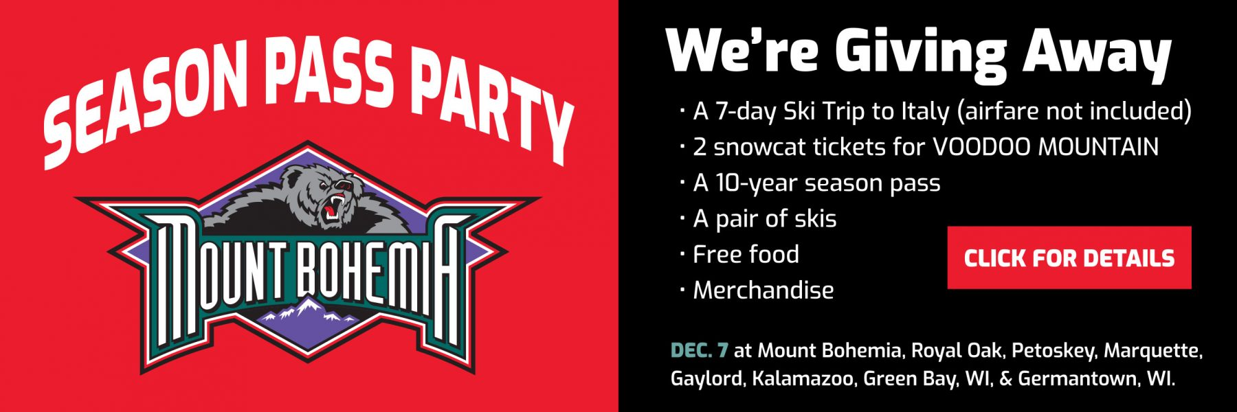 season pass party december 7